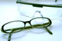 Brille und Schutzbrille